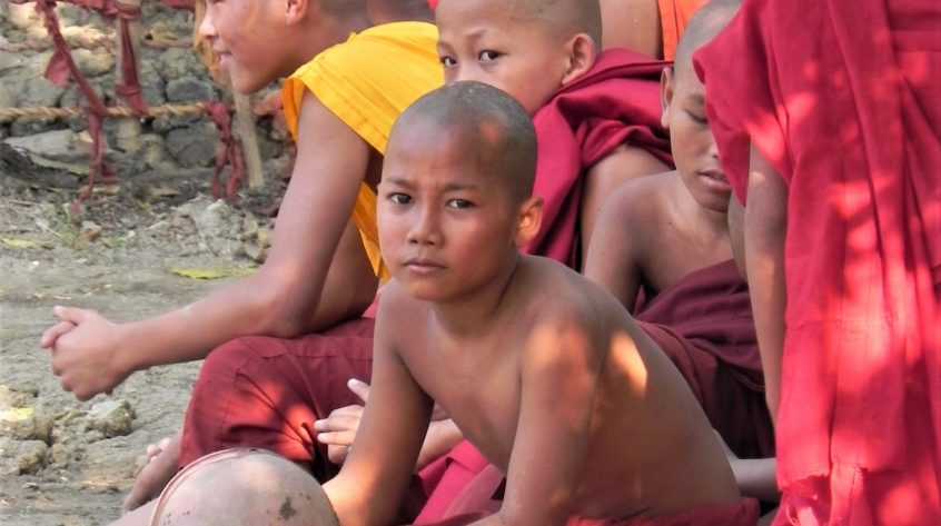 Group of young monks